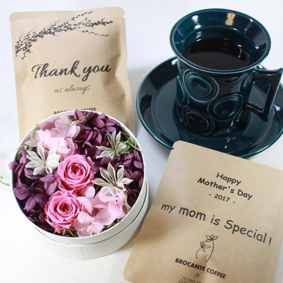 [Flower & Coffee SET]Flower BoxS(PINK)+メッセージドリップバック2種8個