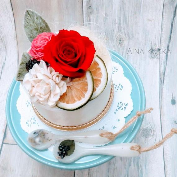 [Flower Aroma SET]フラワーケーキ×アロマバー/クリアBox付き