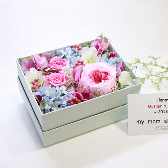 [Flower Box  Msize]プリザーブドフラワー×アーティフィシャルフラワー