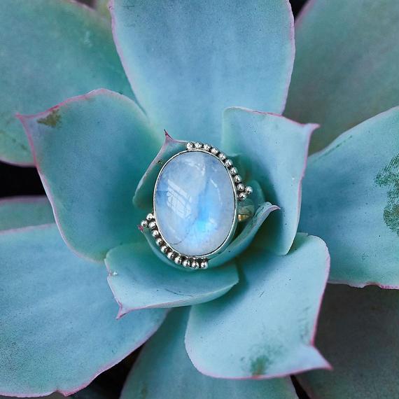 Dream Rainbow Blue Moonstone Jewelry