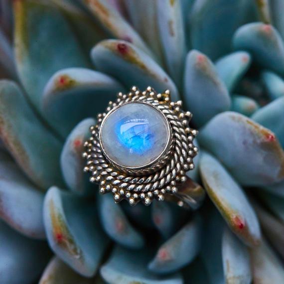 SUNNY Rainbow Blue Moonstone Jewelry