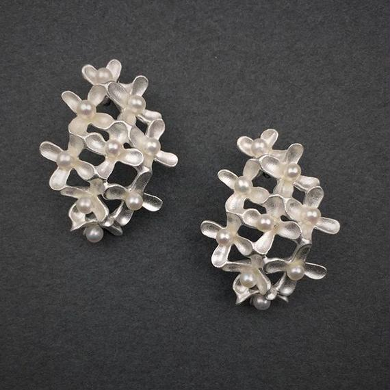 Osmanthus earring (ear clips type) M-size(SV) 金木犀イヤリング Mサイズ(SV)