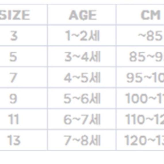 韓国子供服サイズ