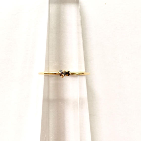 Tiny juicy ring / Black Diamond