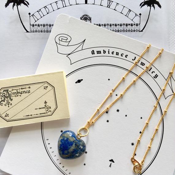 Heart necklace/ Lapis lazulih