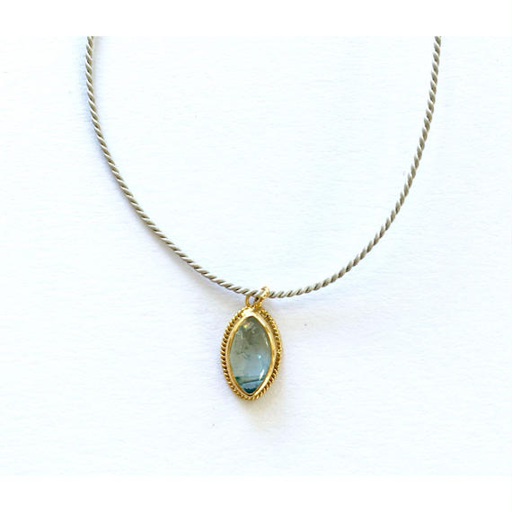 Silk code 2 way / bracelate&anklet  / Aquamarine