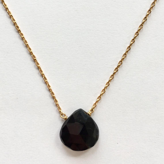 1stone necklace/ Black onyx