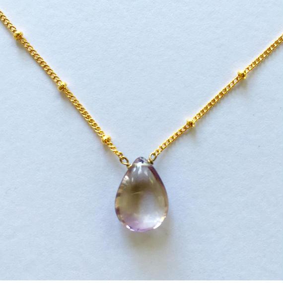 Ametrine necklace / ball chain