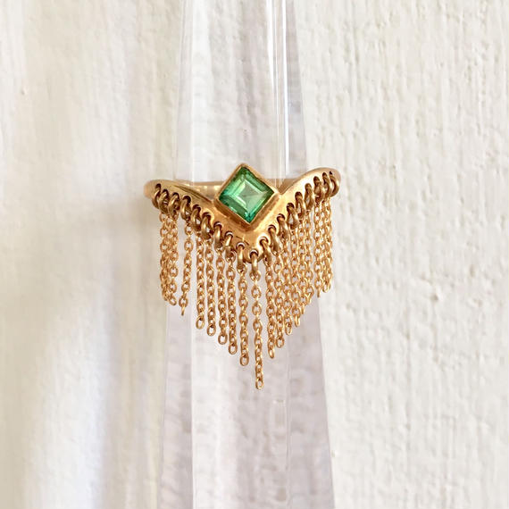 Spynx Ring / green quartz