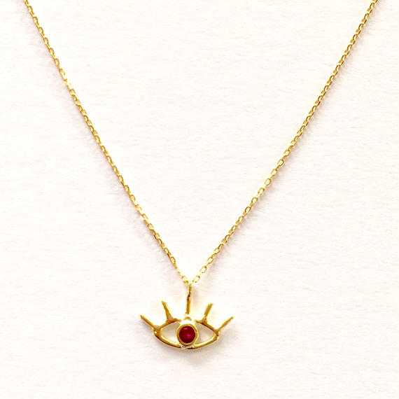 18ct Third eye necklace / Ruby