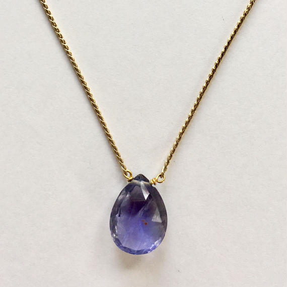 1stone necklace/ iolite
