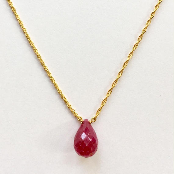 1stone necklace / Ruby