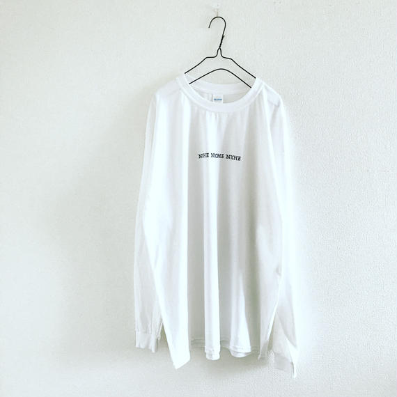 ・前払いお取り置き・NICHE  NICHE NICHE ロンT  ホワイト (XL)