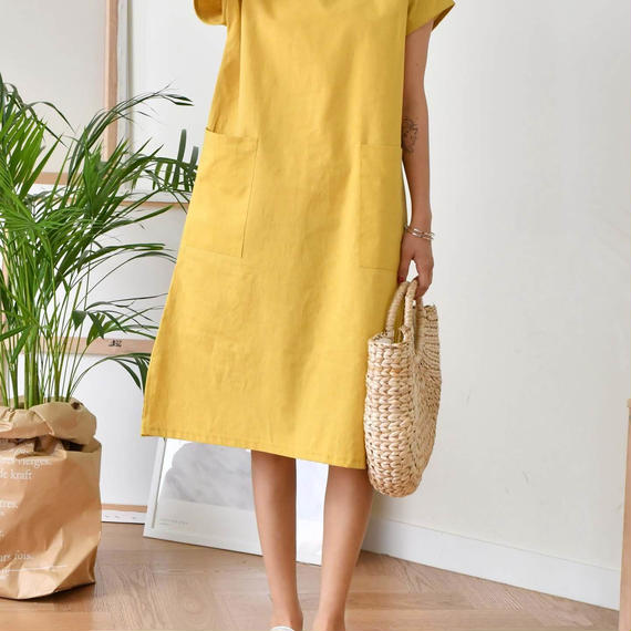 linen square ops(yellow/beige/black)