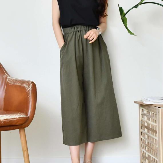 hemp wide pants(4color)