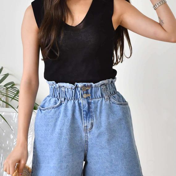 wbutton half pants