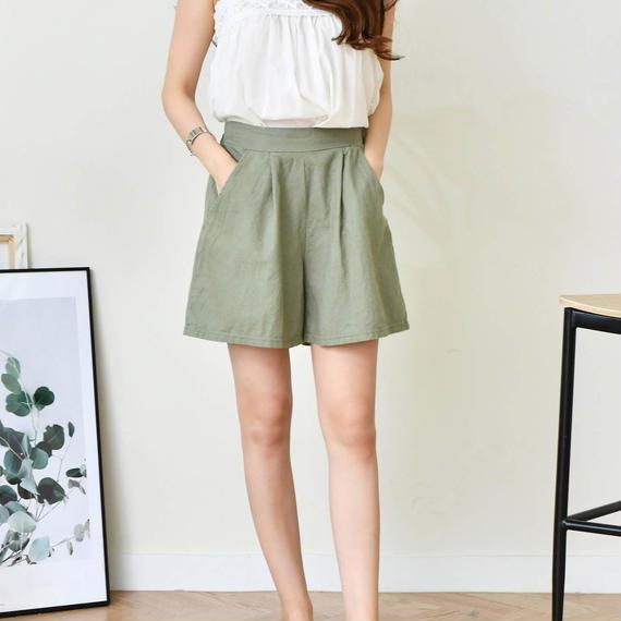 linen half pants(5color)
