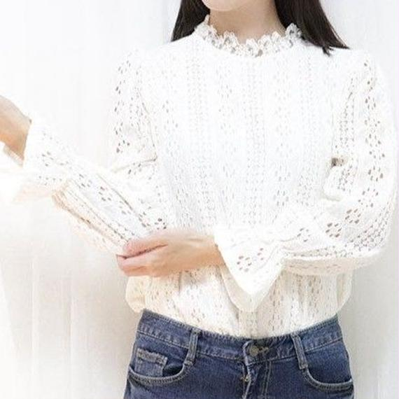 becky blouse(ivory/black)