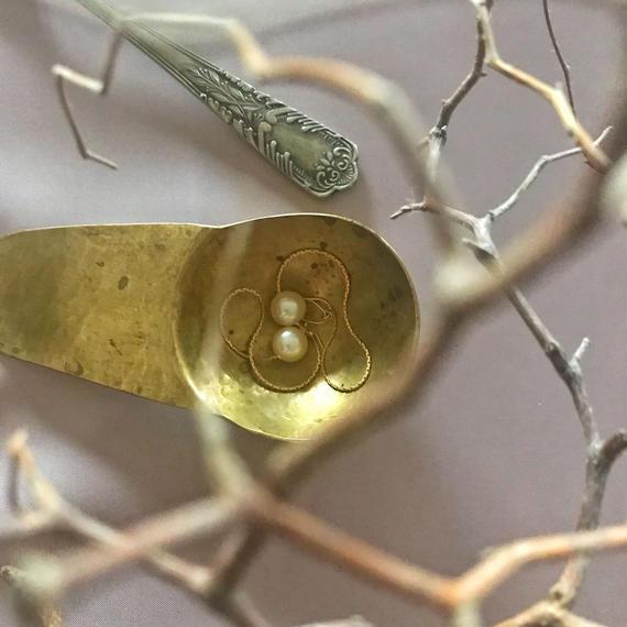 chain  pearl pierce (gold)