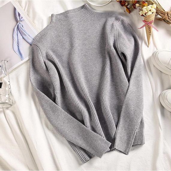 8color rib knit tops/8カラー リブニット トップス