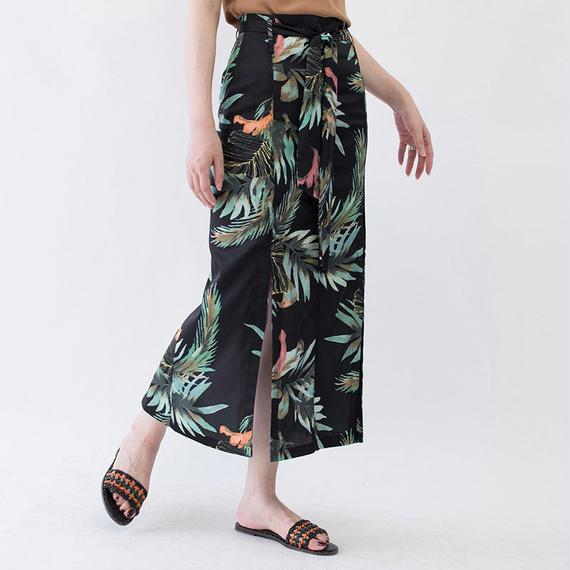 tropical motif slit skirt/トロピカル柄 スリット スカート