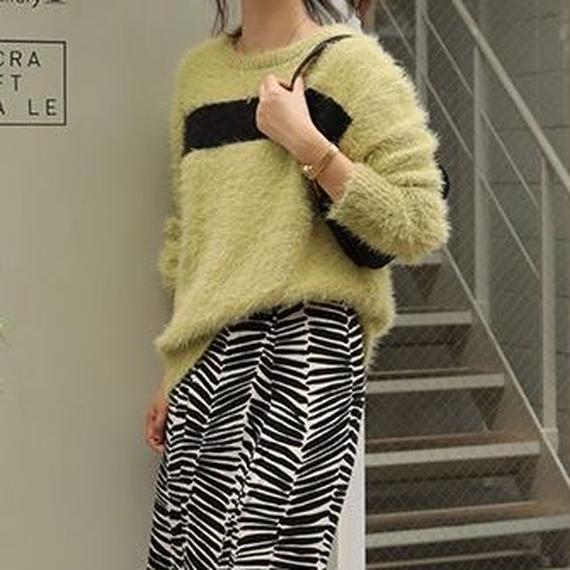 multi color knit sweater/マルチカラー ニット セーター