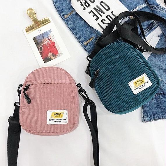 6color corduroy shoulder bag/6カラー コーデュロイ ショルダーバッグ