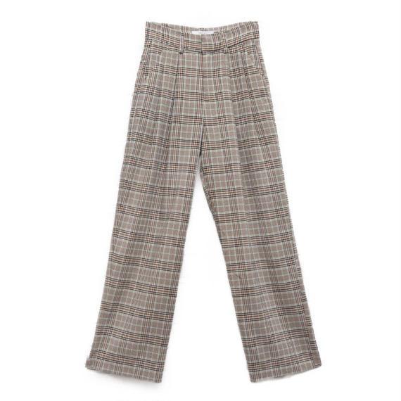high waist plaid pants/ハイウエスト チェック柄パンツ