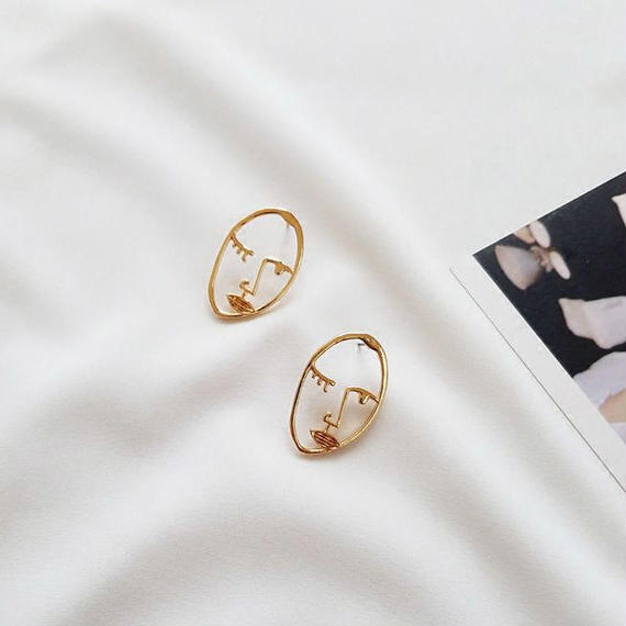 face motif earrings/フェイス モチーフ ピアス