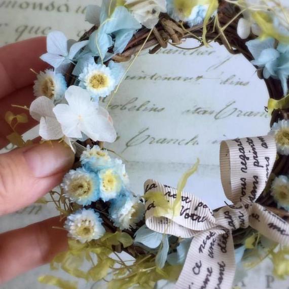 期間限定 11月末まで送料無料! 永遠の愛 イモーテルのナチュラルリース 結婚祝い
