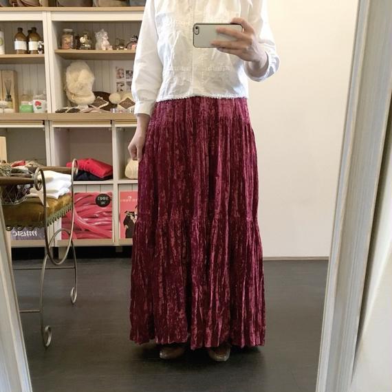 used velours skirt