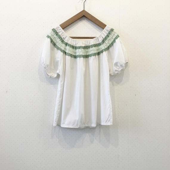 used frill blouse