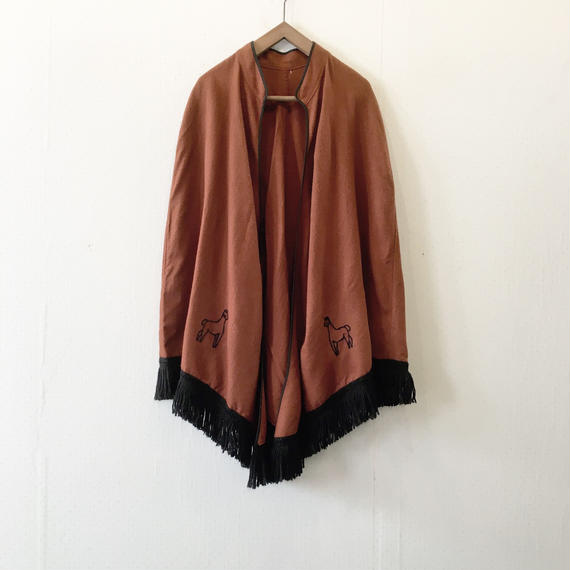 used  embroidery poncho