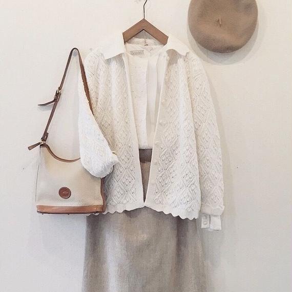used white cardigan