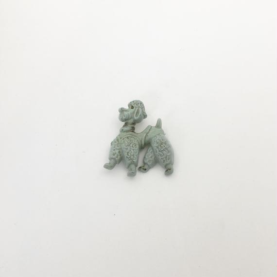 antique dog brooch