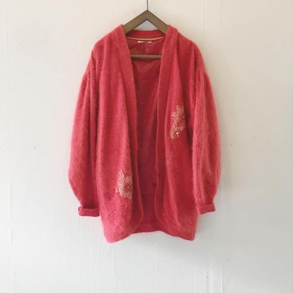 used angora cardigan