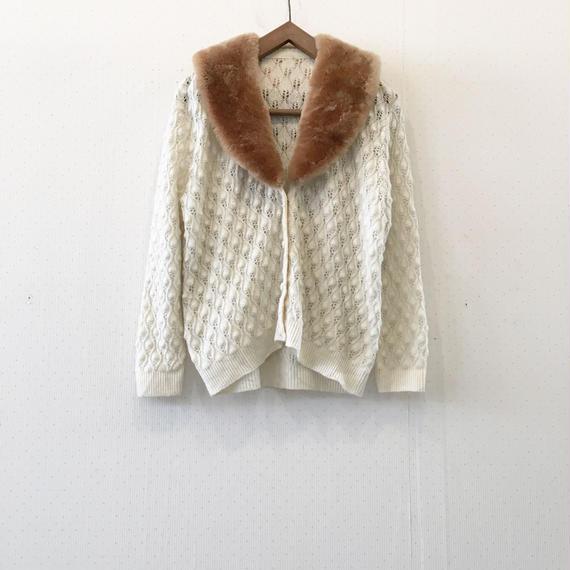 used fur cardigan
