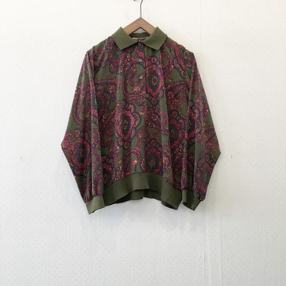 used paisley blouse