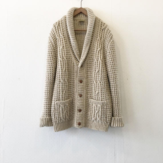 used cable long knit