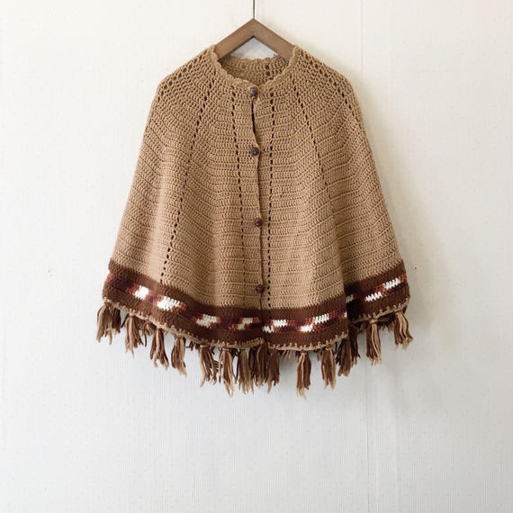 used 70s poncho