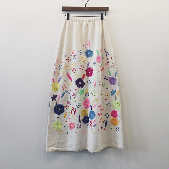 vintage  embroidery skirt