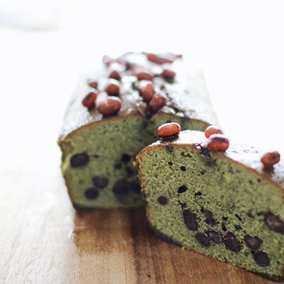 抹茶と小豆のパウンドケーキ