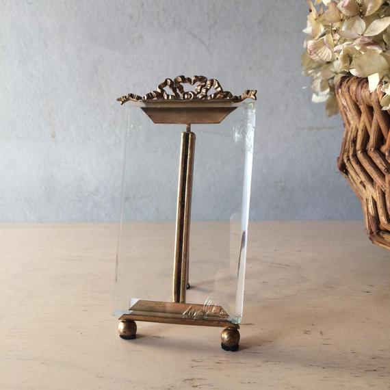 フランス アンティーク ガラス フォトフレーム