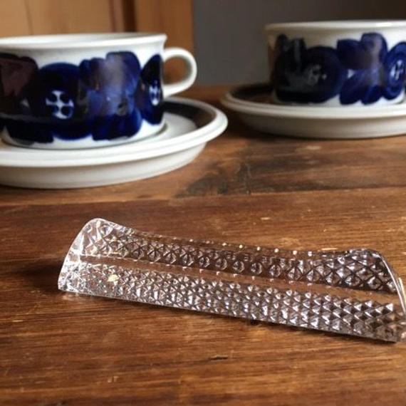 フランス アンティーク  ガラスとクリスタルのナイフレスト