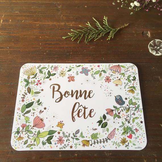 """フランス パリ デザイン ポストカード """"Bonne fete"""""""