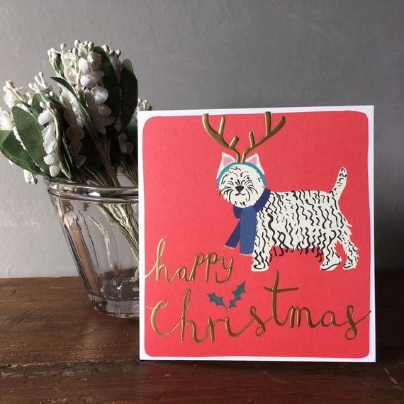 クリスマスカード 2018 犬  イギリス