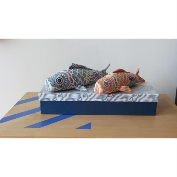 木版手染めぬいぐるみ 『鯉のぼり』 - 真工藝