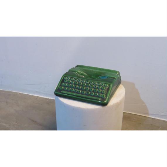 Typewriter ceramic ashtray