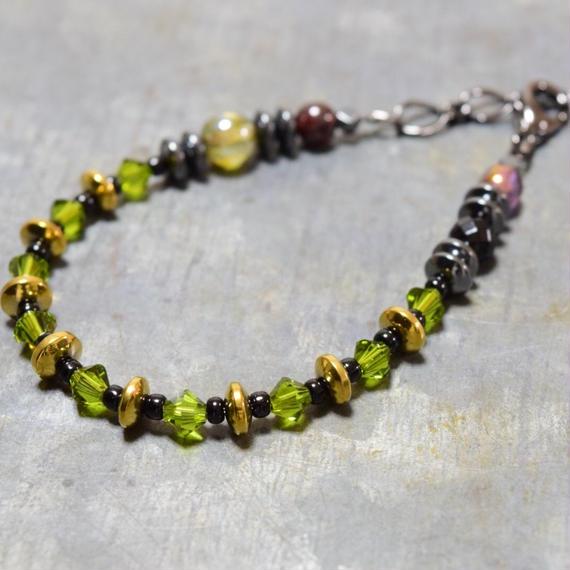 """スワロフスキー スピーナブレス[ フォレスト]""""swarovski spina bracelet(FOREST) """""""