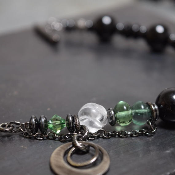 """オニキス ドウジンググリーン ブレス""""ONYX DOZING GREEN bracelet"""""""